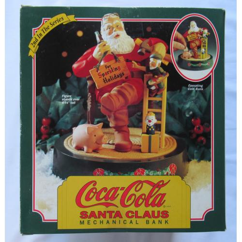 VINTAGE 1994 2ND In This Series COCA-COLA Santa Claus Mechanical Bank