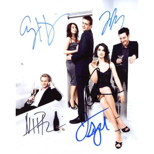 HOW I MET YOUR MOTHER Cast In Person Signed Photo