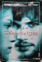 The BUTTERFLY EFFECT Cast Signed Movie Poster