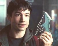 Ezra Miller  from the movie JUSTICE LEAGUE