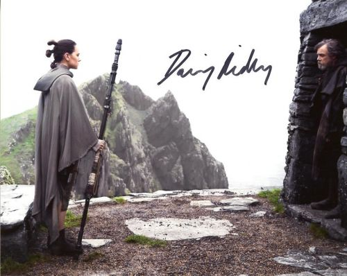 Daisy Ridley from the movie STAR WARS THE LAST JEDI