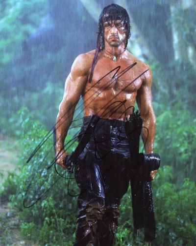 Sylvester Stallone from the movie RAMBO