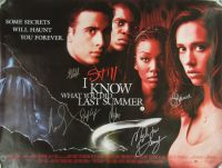 I STILL KNOW WHAT YOU DID LAST SUMMER Cast Signed Poster