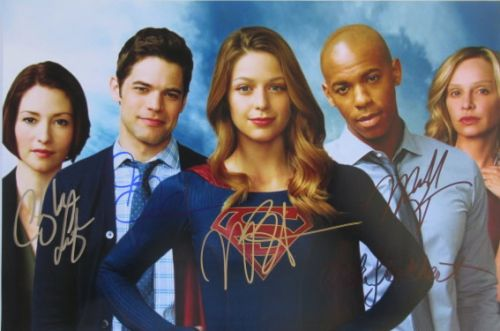SUPERGIRL 15x10 Cast Signed Photo