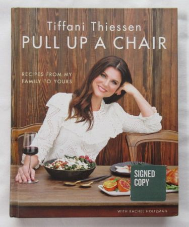 Tiffani Thiessen PULL UP A CHAIR Signed Book