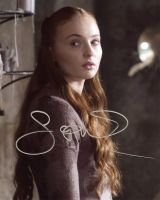 Sophie Turner from the HBO series GAME OF THRONES